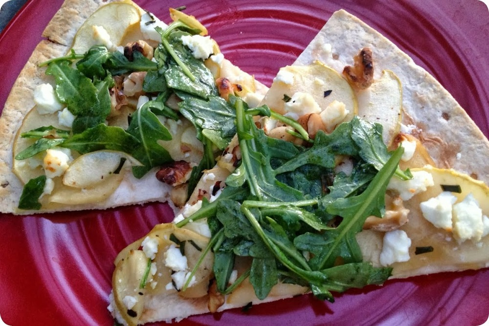 Apple Walnut Feta Pizza