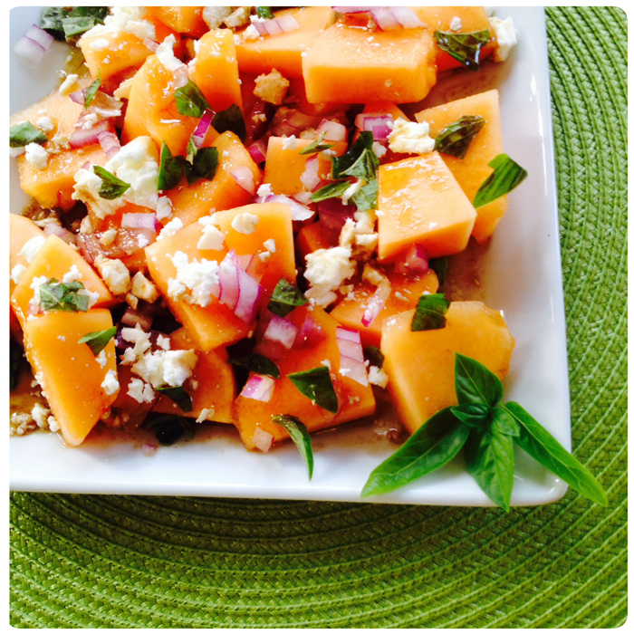 Cantaloupe with Balsamic vinegar
