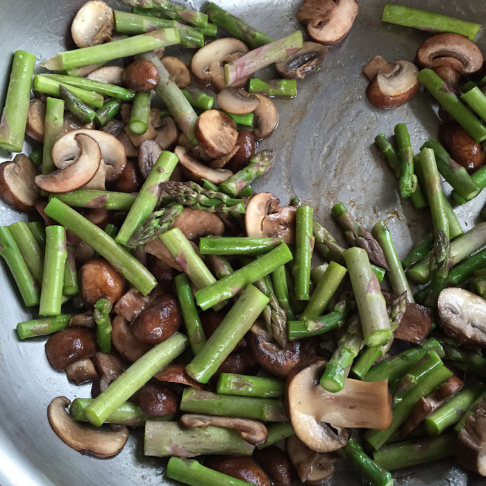 Fresh Mushrooms & Asparagus