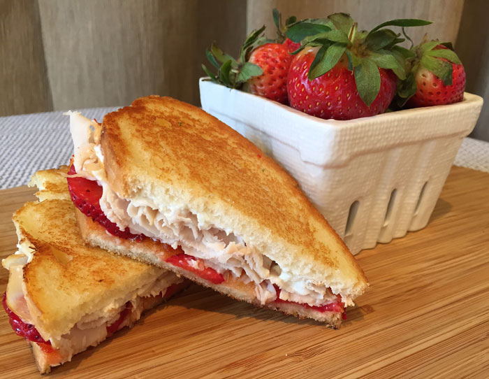 Strawberry Turkey Panini with Goat Cheese