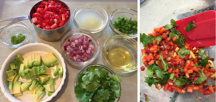 Strawberry Salsa Ingredients