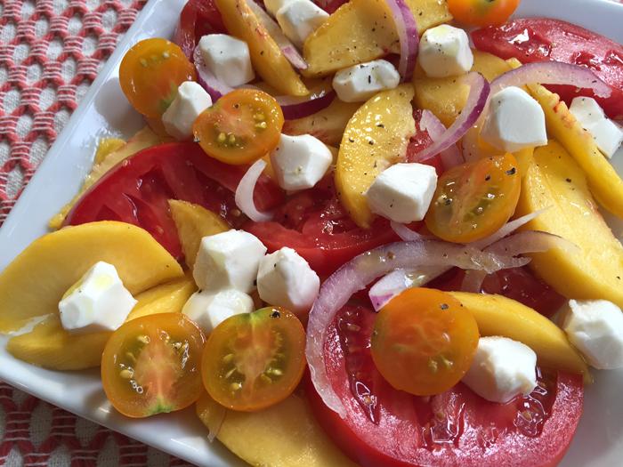 Peach Tomato Motz Salad