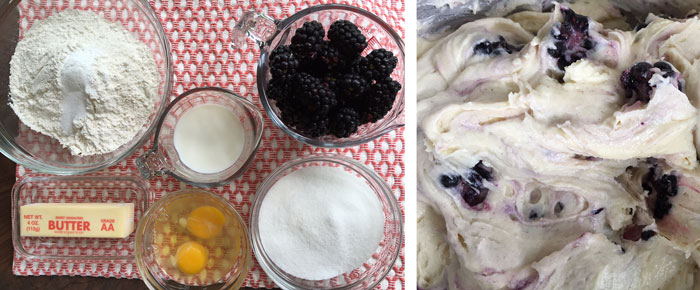 Blackberry Muffin Ingredients