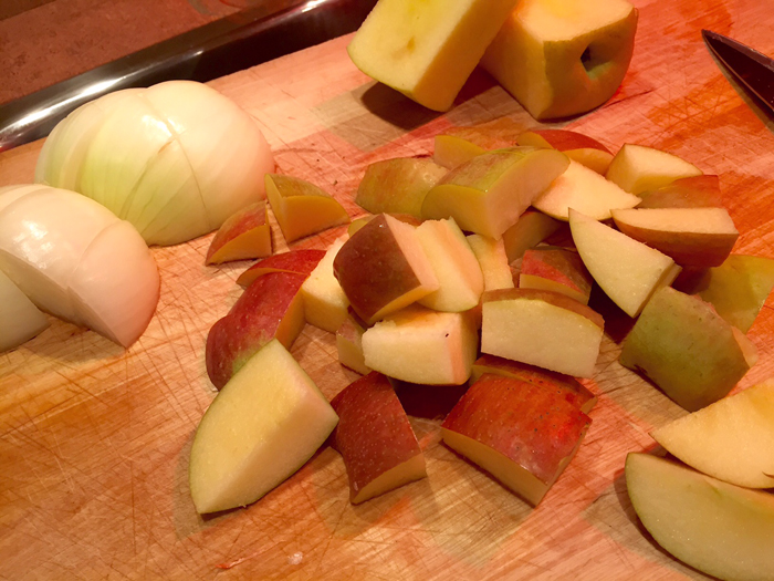 Chopped Apples for Apple Recipe