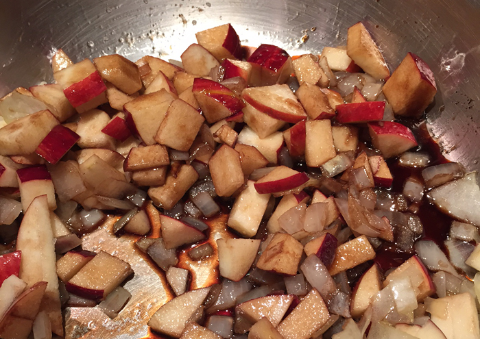 Balsamic Apples and Walnuts