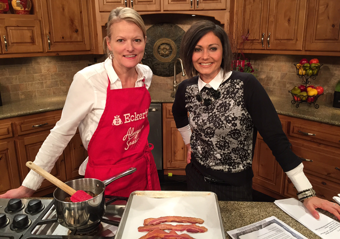 KSDK and Angie Eckert Making Bacon Jam