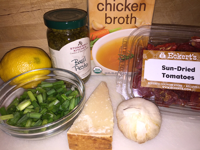 Ingredients for Chicken Pesto Pasta