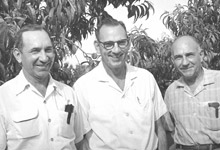 left to right – Curt, Vernon, Cornell Eckert