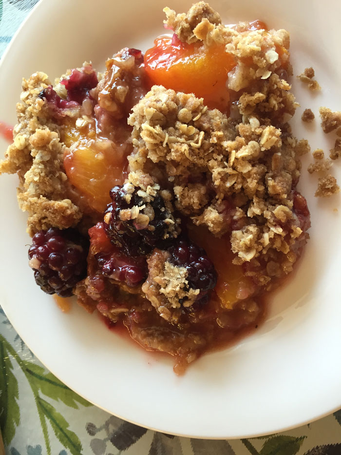 Blackberry Peach Crisp