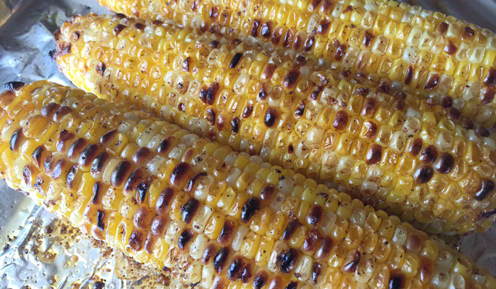 Sweet Corn Broiled