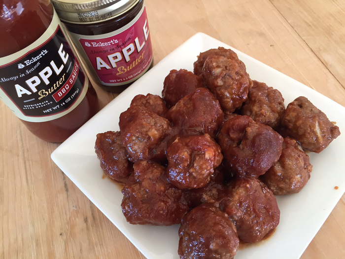 Apple Butter Meatballs