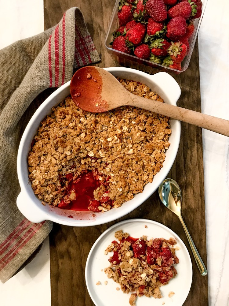 Vegan Strawberry Breakfast Cobbler