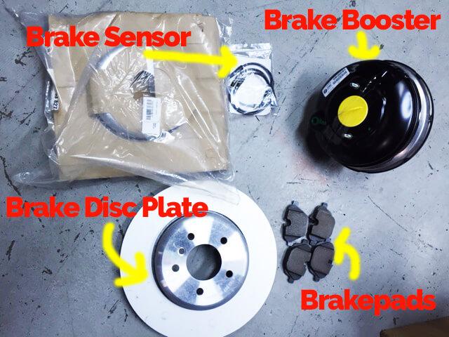 Car brake system replacement