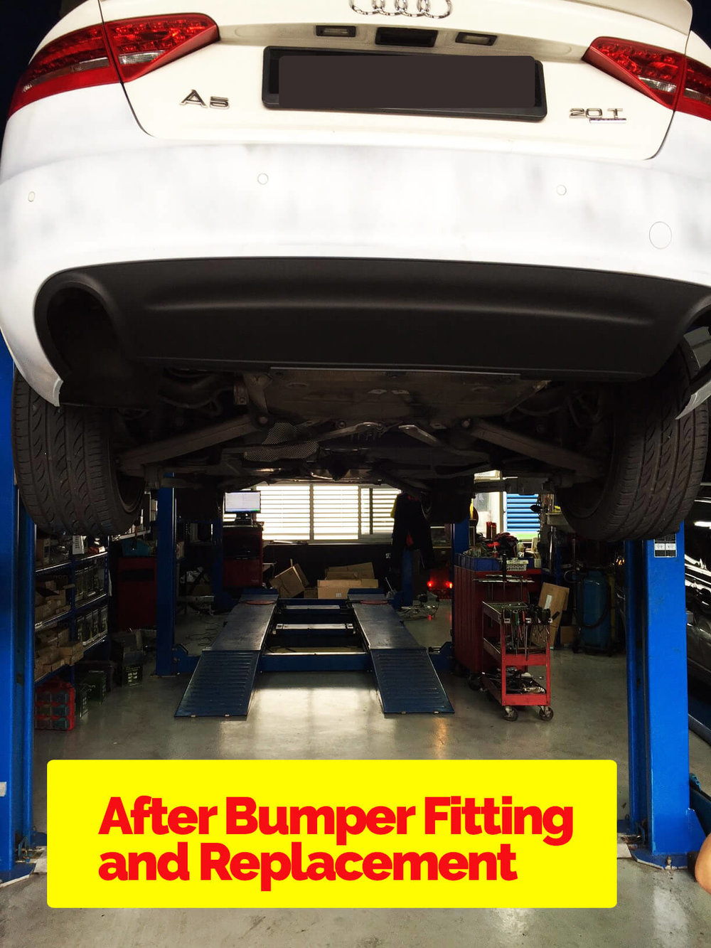 Audi A5 Accident Repair - Bumper Replacement