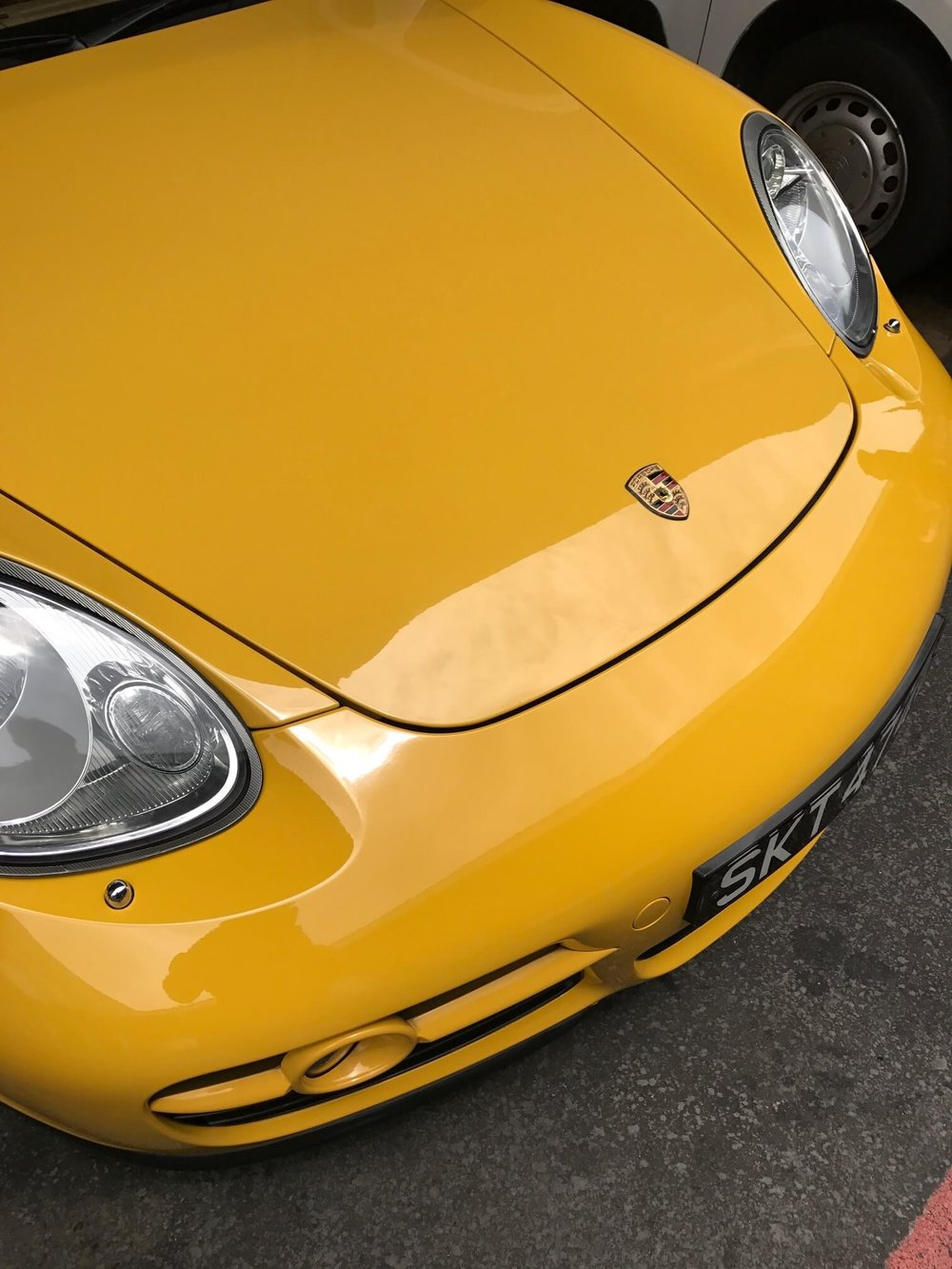 Porsche Cayman Bumper Spray Paint