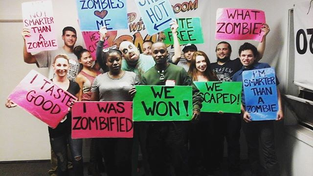 And over in SF, part of our sales team escaped from zombies! #teambuilding #startup #soma #womplysf #womply #beyondescape