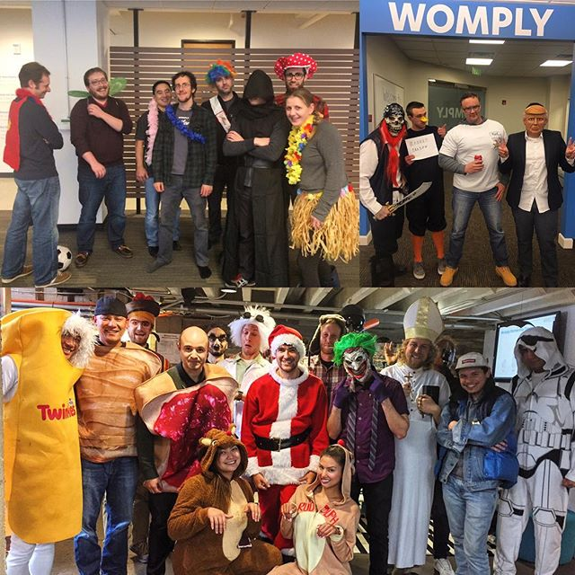 Happy Halloween from our squad to yours! #womply #halloween #costumes #sf #pdx #utah #startup #squad