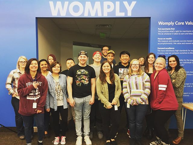 Womply's Utah support team at your service. Want to join us? We're hiring! Check us out at womply.com/jobs #womply #womplyutah #startup #utah