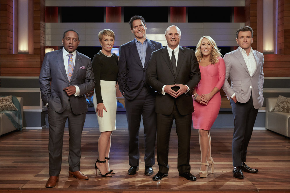 The cast of ABC's Shark Tank. (Courtesy ABC Press.)