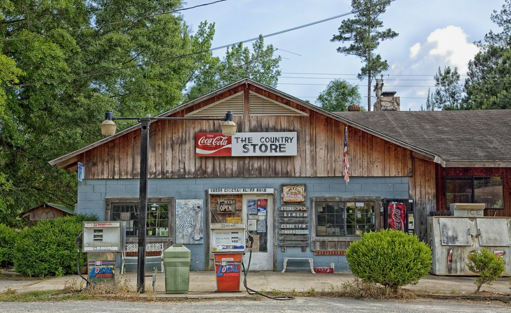 The Country General Store in Choctaw, Alabama. In the Heart of Dixie, optimistic small business owners outnumber pessimistic ones 6 to 1.