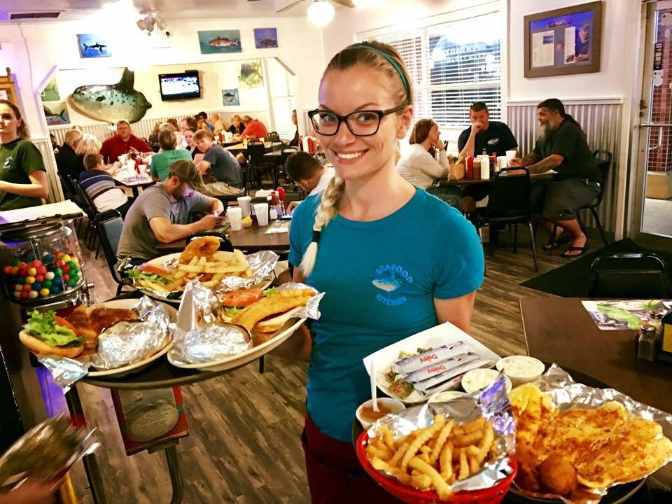 Seafood Kitchen serves up fresh ocean fare to 2,000 customers per day on the weekend in the Jacksonville, Florida area.