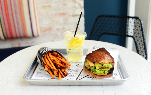 By Chloe has an unusual take on the classic burger — everything in the restaurant is completely plant-based.