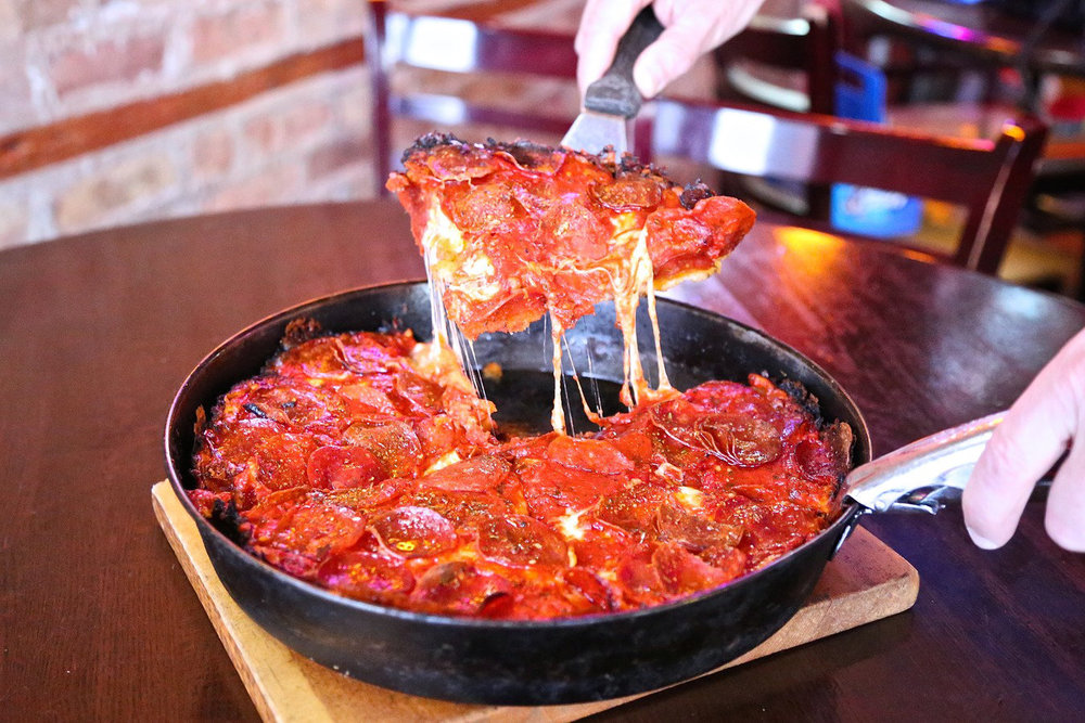 With its famous caramelized crust, Pequod's Pizza was named one of the nation's top five pizza joints by Food Network in 2015.