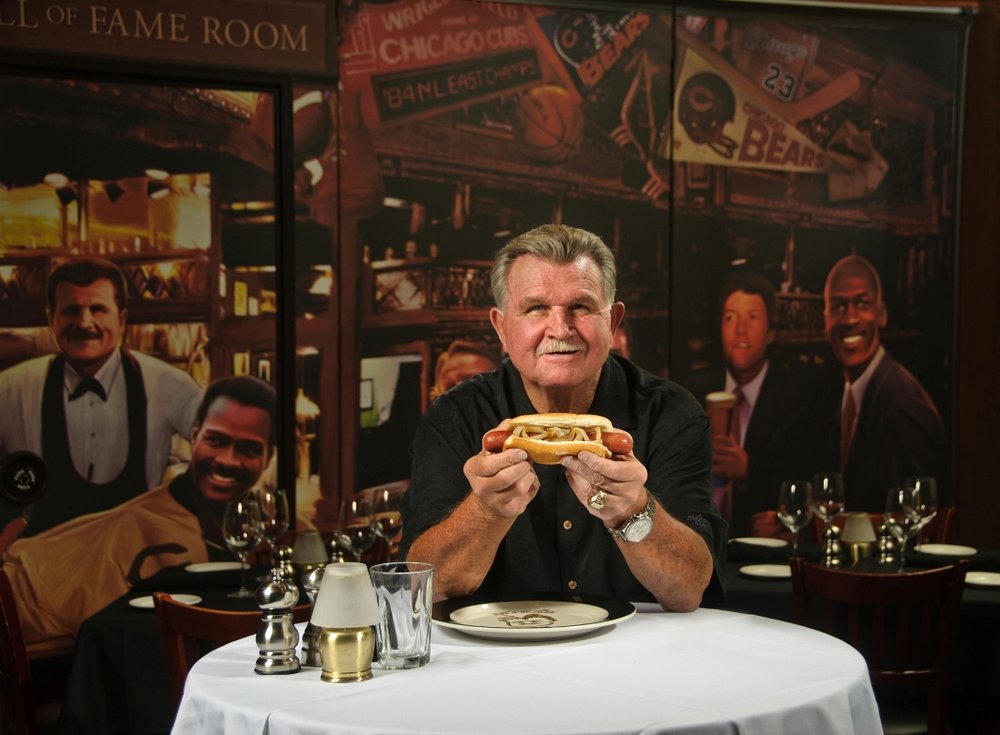 Patrons will often see Mike Ditka, the former NFL star and legendary Chicago Bears coach, spending his evenings in the restaurant.