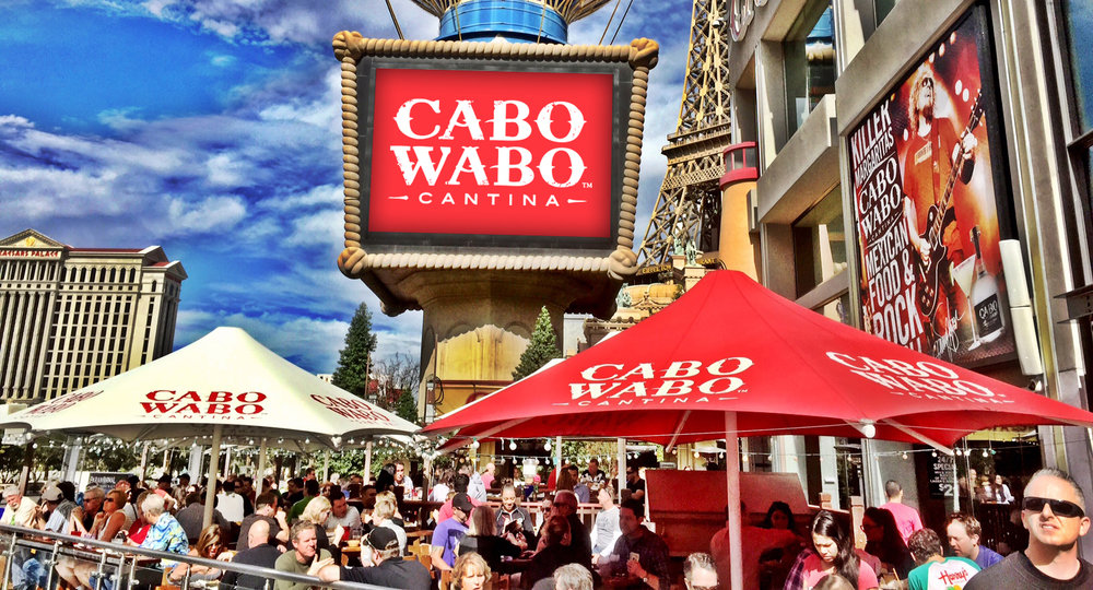 Cabo Wabo Cantina brings a splash of Mexico's resort country to the center of the Las Vegas Strip.