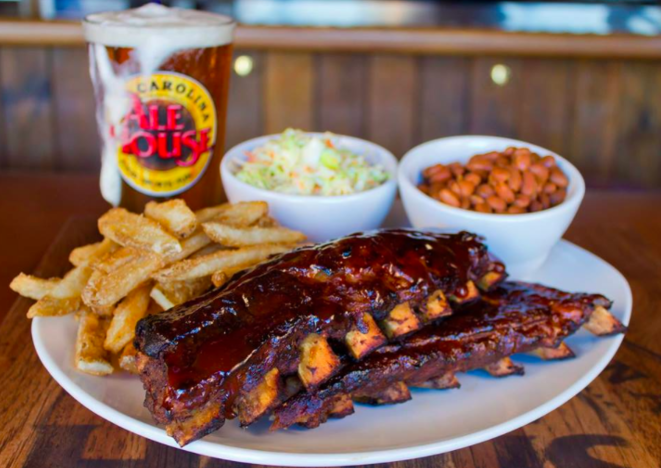 The Carolina Ale House is a mainstay in the south and along the eastern seaboard, featuring classic American dishes and an extensive drink menu in a fun sports bar atmosphere.