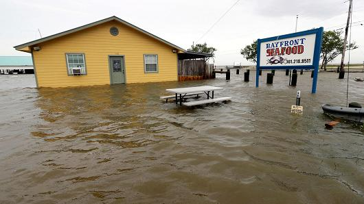 While Hurricane Harvey left some small businesses literally and figuratively under water, on average SMBs rebounded quickly. (Image courtesy CNBC.)