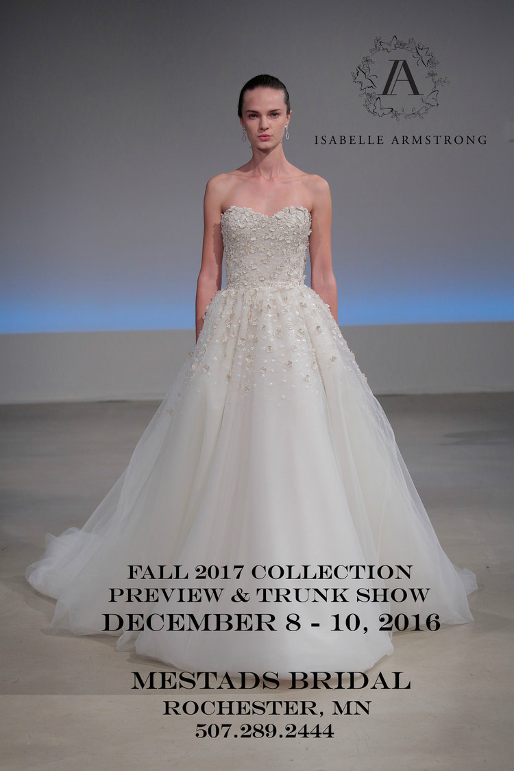 Trunk Show ~ Mestads Bridal ~ Rochester, MN — Isabelle Armstrong