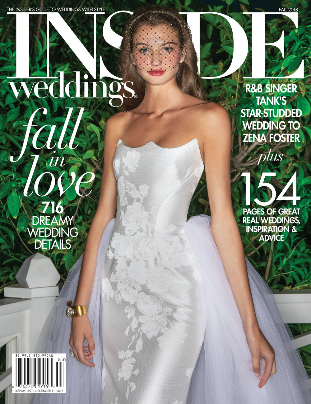 Inside Weddings Magazine ~ Fall 2018 Cover