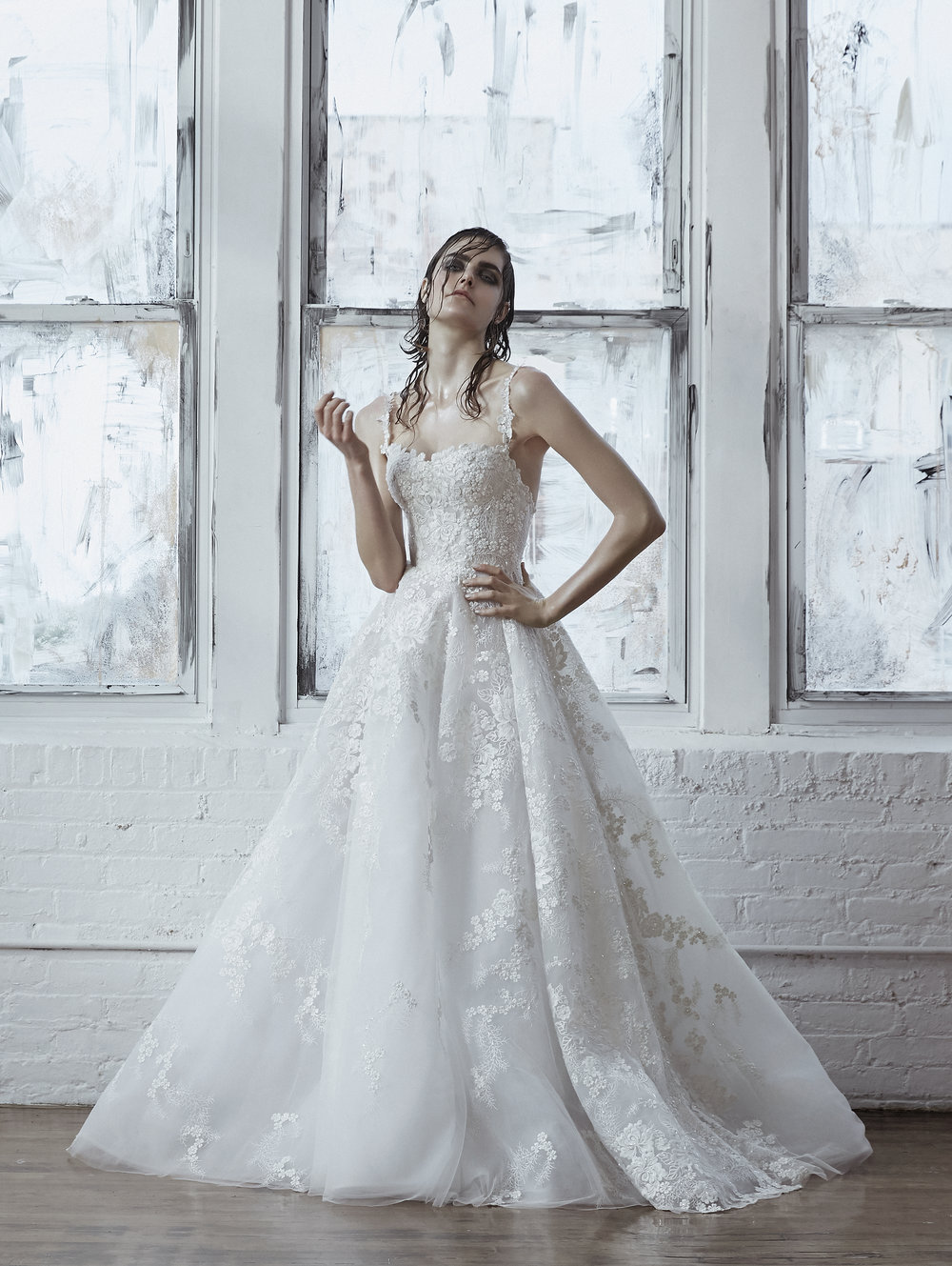 LUNA Spaghetti Strap Lace Ball Gown ~ Fall 2018 Collection