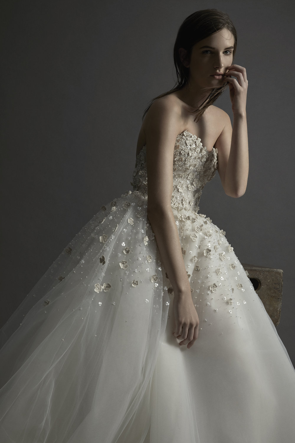 VICTORIA Floral Tulle Ball Gown ~ Fall 2017 Collection