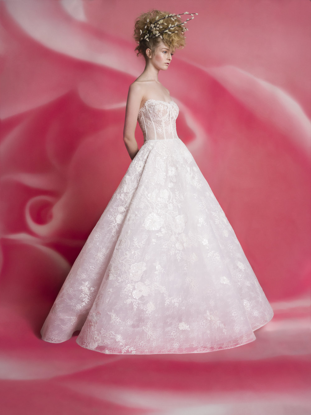 MAGGIE Sheer Lace Ball Gown ~ Spring 2019 Collection