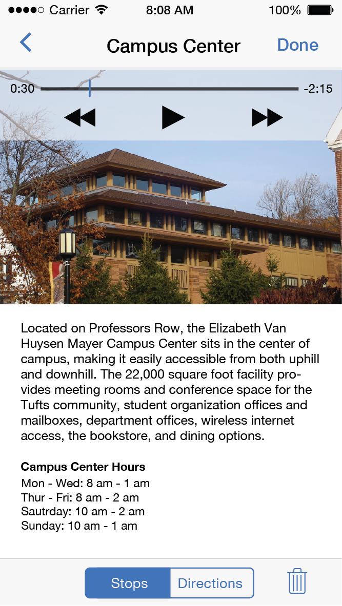 Tufts Tours Mobile App Allison Kuperman