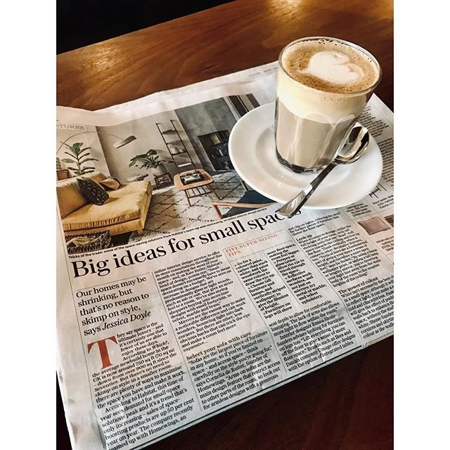 In the big @telegraph pages today chatting about big ideas for small spaces. Thanks @tjedoyle for including me #thetelegraph #interiorspaces #smallspacesbigideas #designandthat #interiordesign