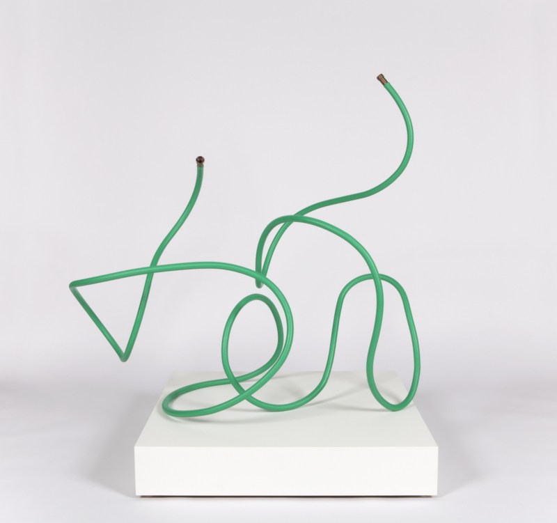 Matt Johnson  'Untitled (Garden Hose)', 2015 Stainless Steel, Bronze, Fiberglass and Paint      Photo Courtesy: Matt Johnson