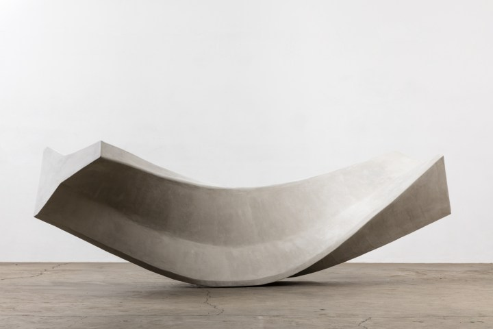 Matt Johnson  'Twisted Jersey Barrier', 2015 Stainless Steel and Cement         Photo Courtesy: Matt Johnson