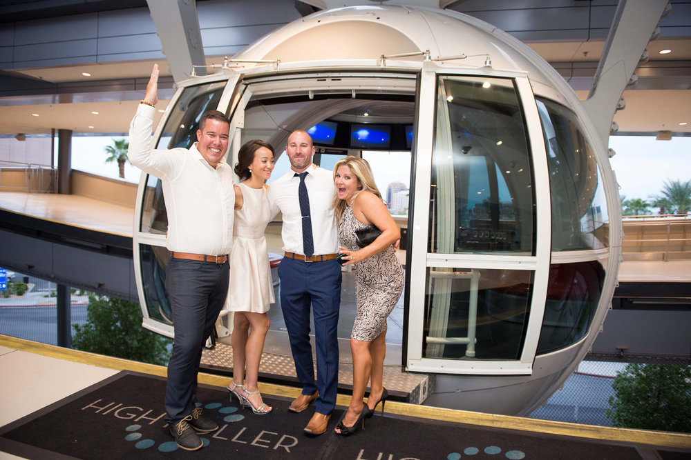 Wedding Party Boards the High Roller