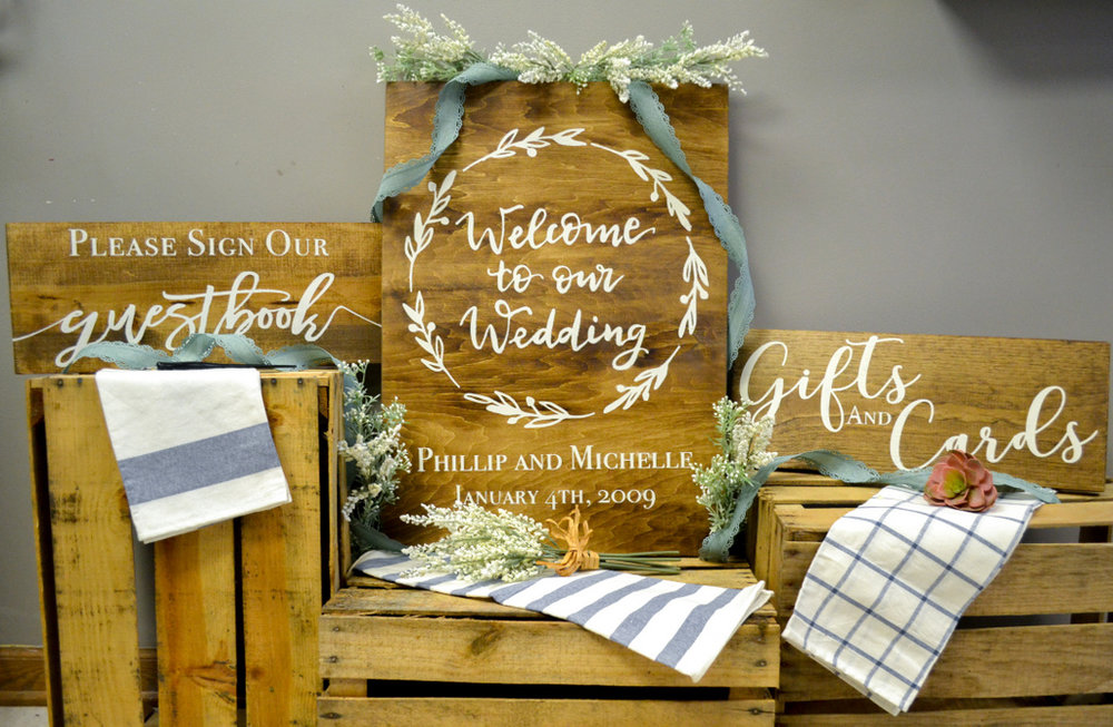 rustic wedding gifts cards and guestbook the petite palette