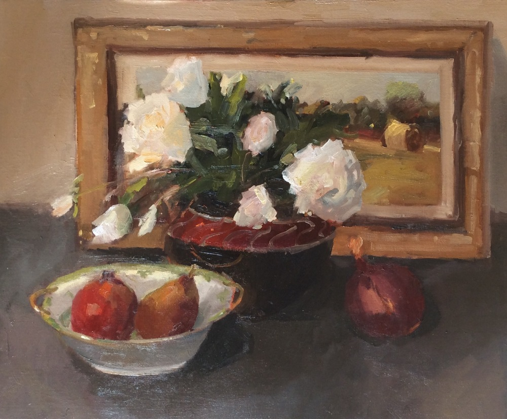 Fruit and Roses 18x24