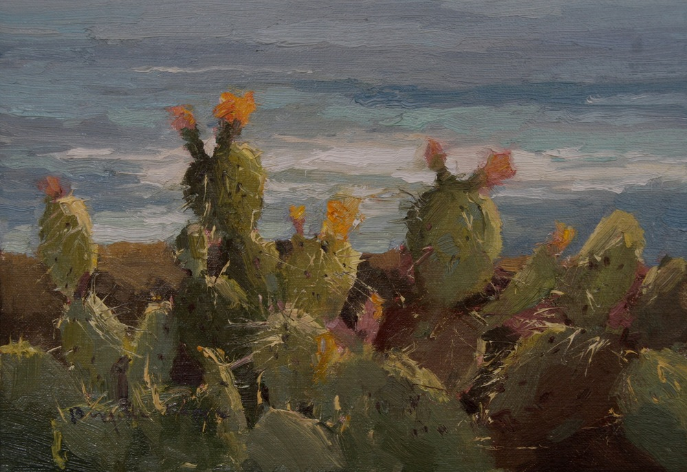 Cactus by the Sea 8x10