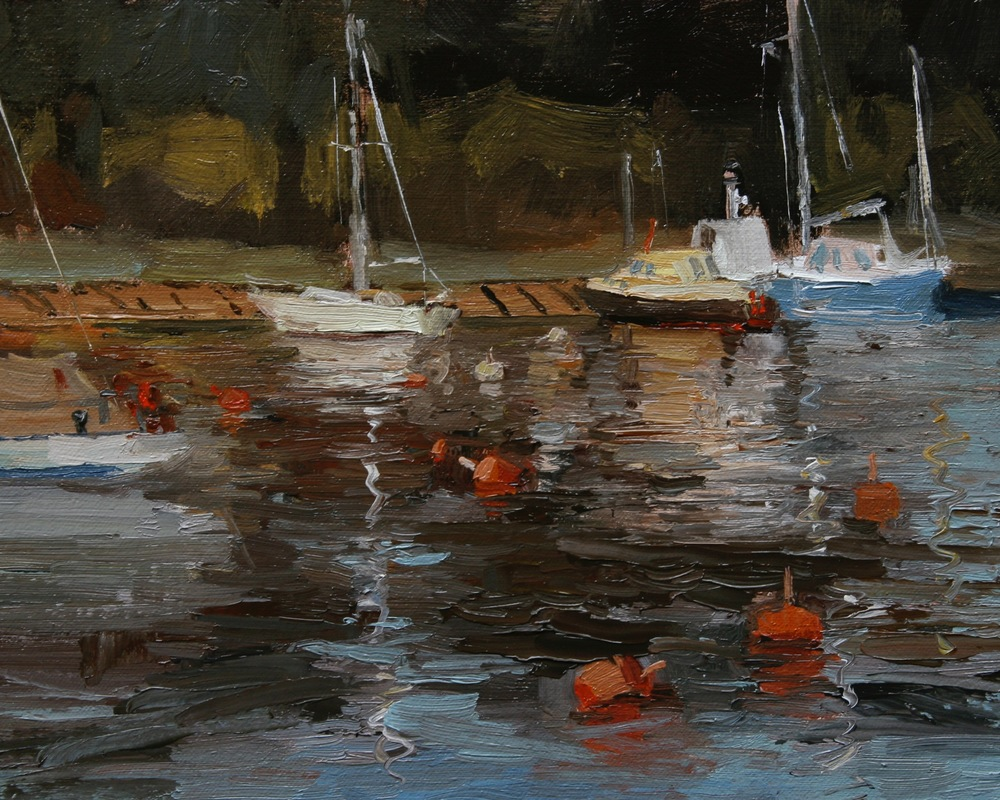 Boats in the Harbor 8x10