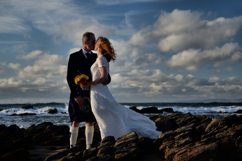 Beach wedding - Kintyre