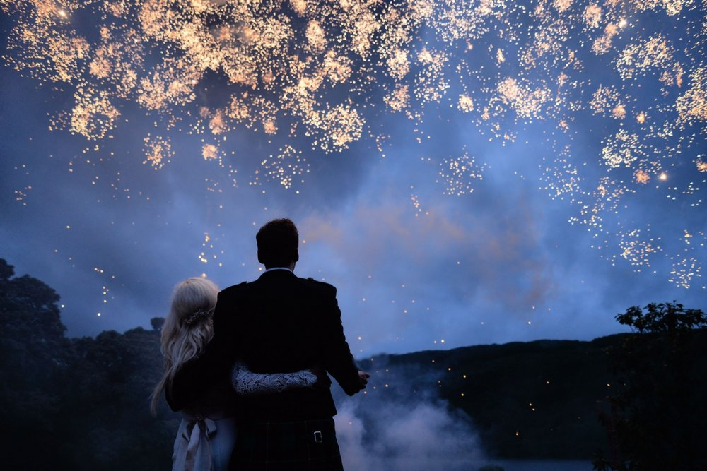 wedding fireworks - Ardkinglas