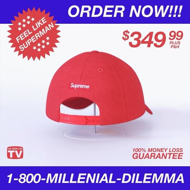 * Supreme MAGA hat: The great millennial moral dilemma of 2018