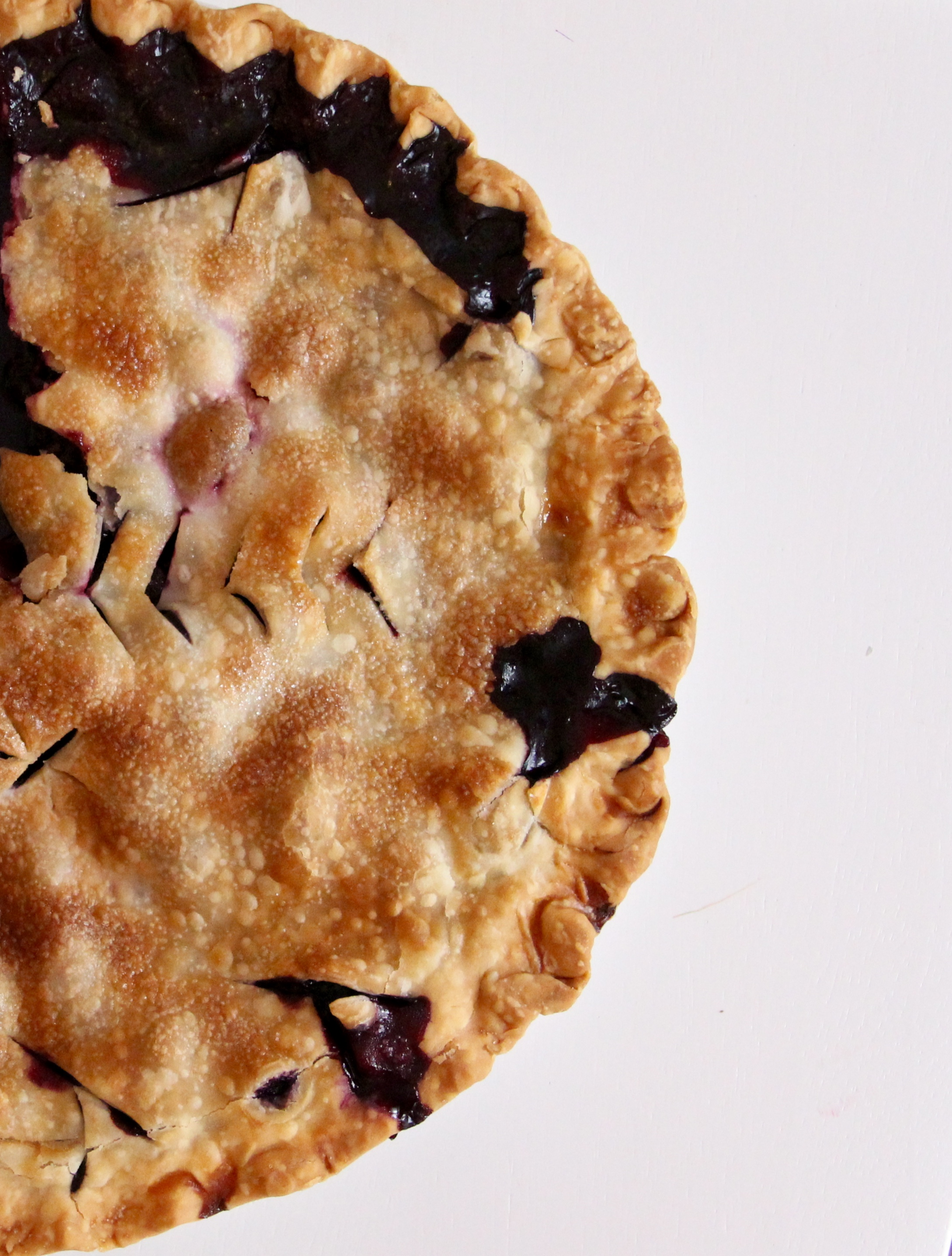 simple homemade blueberry pie