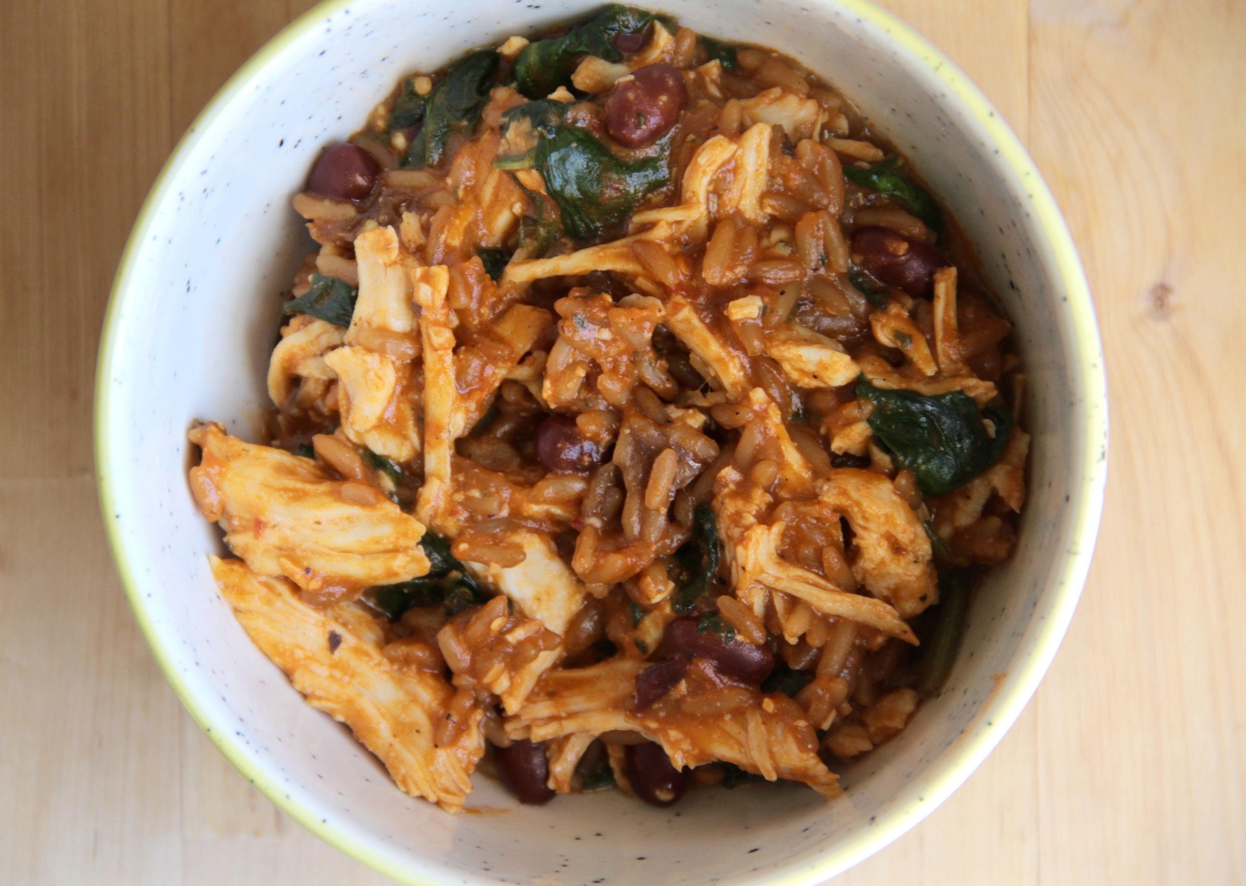 Spinach Chicken Rice Cheese